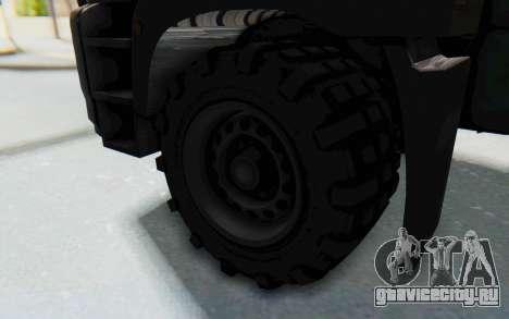 GTA 5 HVY Brickade IVF для GTA San Andreas вид сзади
