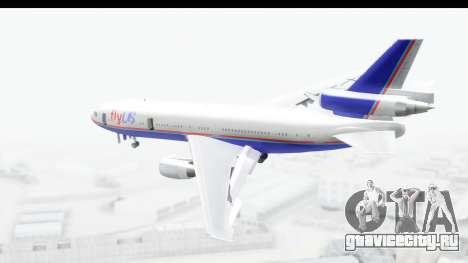 DC-10 Fly Us для GTA San Andreas вид слева