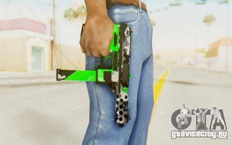 Tec-9 Neural Green для GTA San Andreas третий скриншот