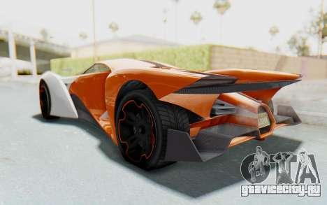 GTA 5 Grotti Prototipo v1 IVF для GTA San Andreas вид справа