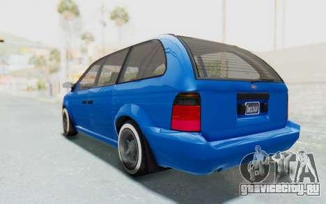 GTA 5 Vapid Minivan Custom для GTA San Andreas вид слева