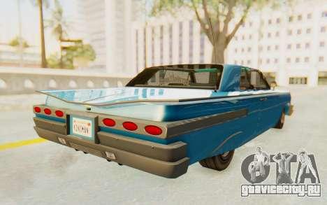 GTA 5 Declasse Voodoo PJ для GTA San Andreas вид сзади слева