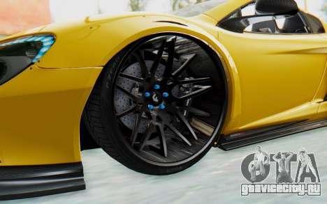 McLaren 650S Spyder ZenWorks для GTA San Andreas вид сзади