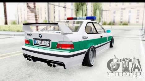 BMW M3 E36 Stance Lithuanian Police для GTA San Andreas вид слева