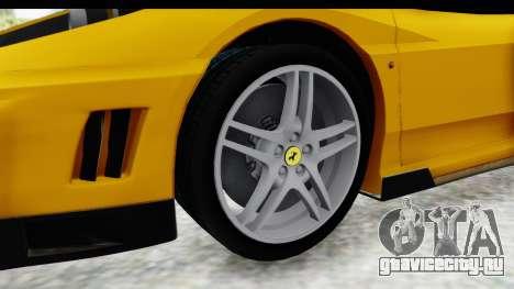 Ferrari F430 SVR для GTA San Andreas вид сзади