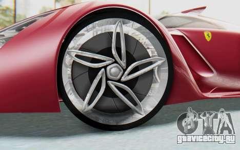 Ferrari F80 Concept для GTA San Andreas вид изнутри