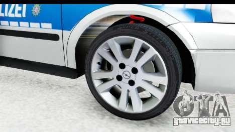 Opel Astra G Variant Polizei Hessen для GTA San Andreas вид сзади