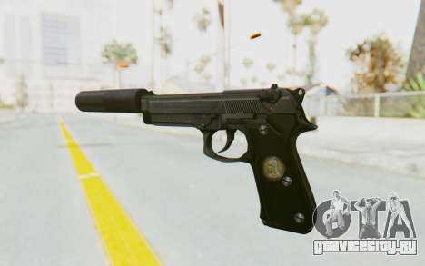 Tariq Iraqi Pistol Back v1 Black Silenced для GTA San Andreas второй скриншот