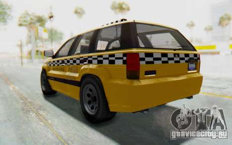 Canis Seminole Taxi для GTA San Andreas вид сзади слева
