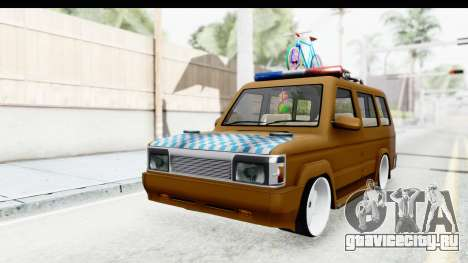 Toyota Kijang Grand Extra with Bike для GTA San Andreas вид справа