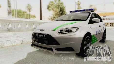 Ford Focus ST 2013 PDRM для GTA San Andreas вид справа