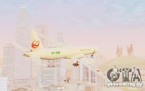 Boeing 777-300ER Japan Airlines v1 для GTA San Andreas вид слева
