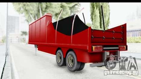 Renault Magnum TopGear Trailer для GTA San Andreas вид сзади слева