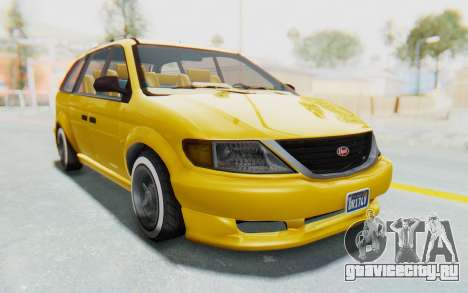 GTA 5 Vapid Minivan Custom IVF для GTA San Andreas вид справа