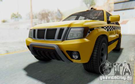 Canis Seminole Taxi для GTA San Andreas вид справа