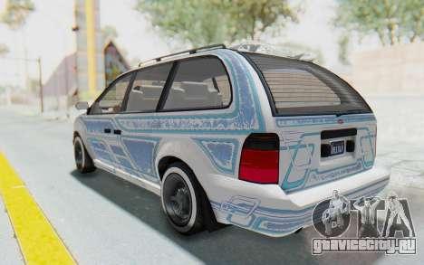 GTA 5 Vapid Minivan Custom without Hydro для GTA San Andreas вид сверху