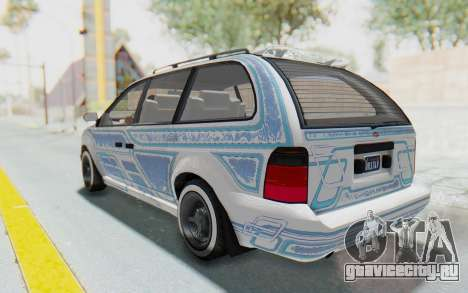 GTA 5 Vapid Minivan Custom для GTA San Andreas вид сверху