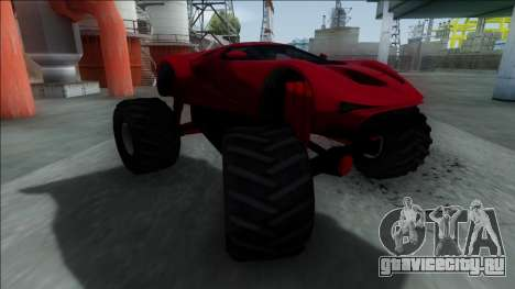 GTA V Vapid FMJ Monster Truck для GTA San Andreas вид слева
