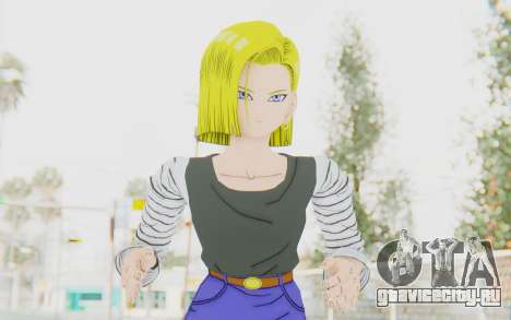 Dragon Ball Xenoverse Android 18 No Jacket для GTA San Andreas