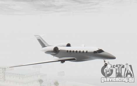 GTA 5 Buckingham Nimbus для GTA San Andreas вид сзади слева