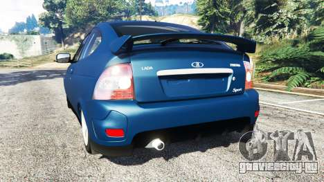 Lada Priora Sport Coupe v0.1 для GTA 5 вид сзади слева