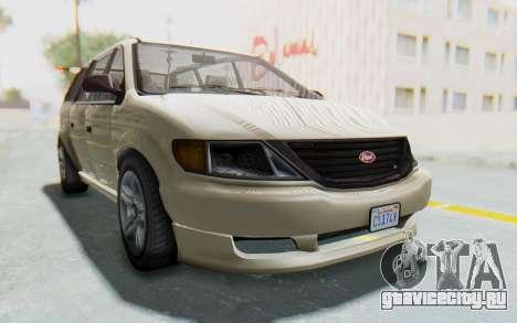 GTA 5 Vapid Minivan IVF для GTA San Andreas