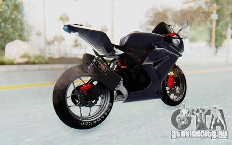 Kawasaki Ninja 250R Streetrace v2 для GTA San Andreas вид слева