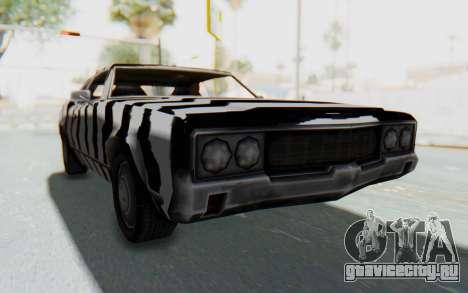 White Zebra Sabre Turbo для GTA San Andreas вид справа