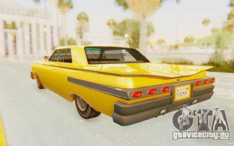 GTA 5 Declasse Voodoo PJ SA Lights для GTA San Andreas вид слева