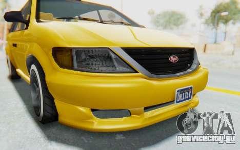 GTA 5 Vapid Minivan Custom IVF для GTA San Andreas вид сбоку