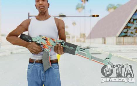 CS:GO - AK-47 Aquamarine Revenge для GTA San Andreas третий скриншот