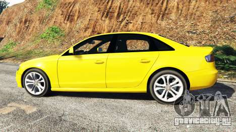 Audi A4 2009 для GTA 5 вид слева