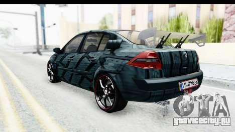 Renault Megane Sport для GTA San Andreas вид сзади слева