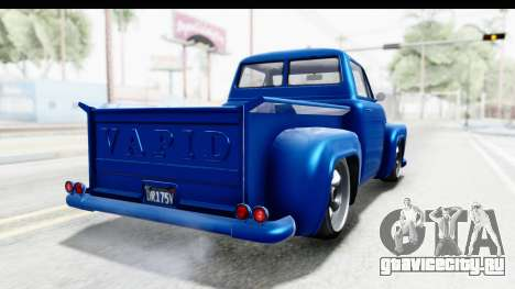 GTA 5 Vapid Slamvan Custom для GTA San Andreas вид сзади слева