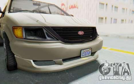 GTA 5 Vapid Minivan IVF для GTA San Andreas вид сбоку