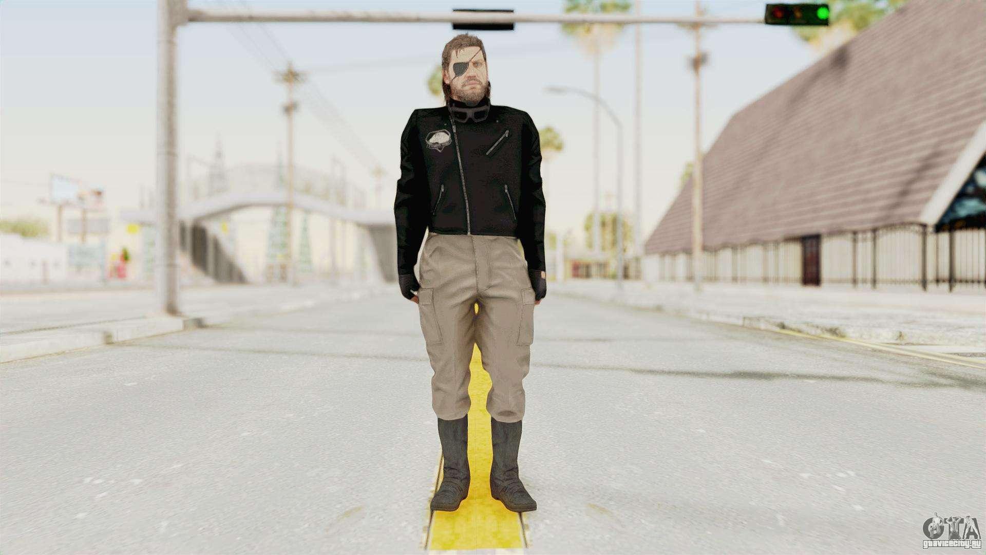 Mgsv Phantom Pain Big Boss Leather Jacket Dlya Gta San Andreas