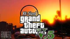 В GTA V будет изменять размер У5.5 ( стабильный