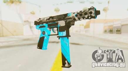 Tec-9 Neural Blue для GTA San Andreas