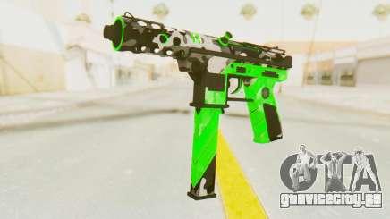 Tec-9 Neural Green для GTA San Andreas