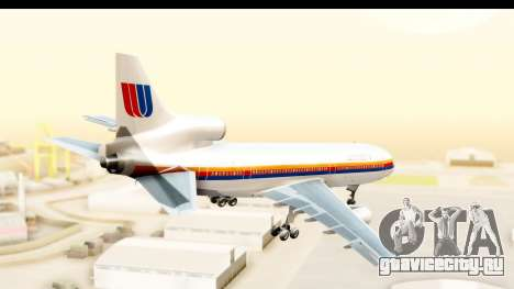 Lockheed L-1011-100 TriStar United Airlines для GTA San Andreas вид справа