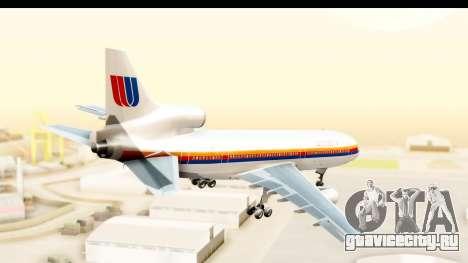 Lockheed L-1011-100 TriStar United Airlines для GTA San Andreas вид справа