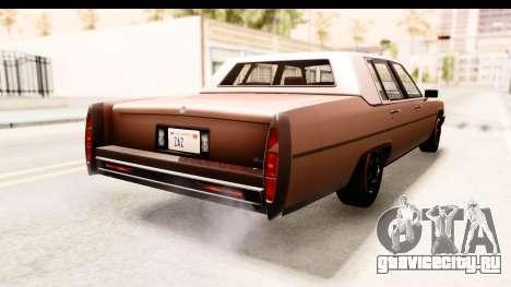 GTA 5 Albany Emperor SA Style для GTA San Andreas вид слева