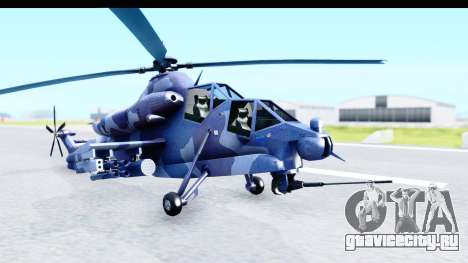 Denel AH-2 Rooivalk Blue для GTA San Andreas