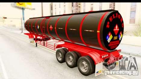Trailer Fuel для GTA San Andreas вид сзади слева