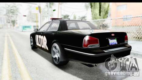 Vapid ULTOR Police Cruiser для GTA San Andreas вид слева