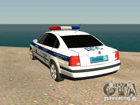 Volkswagen Passat ДПС для GTA San Andreas вид слева