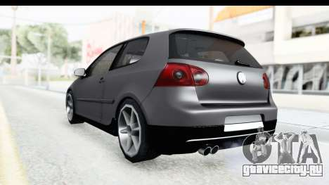 Volkswagen Golf 5 Stock для GTA San Andreas вид слева