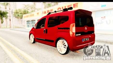 Fiat Fiorino v2 для GTA San Andreas вид сзади слева