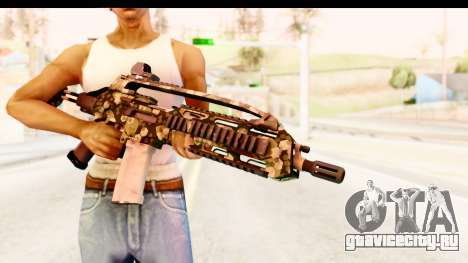 SCAR-LK Hex Camo Green для GTA San Andreas третий скриншот