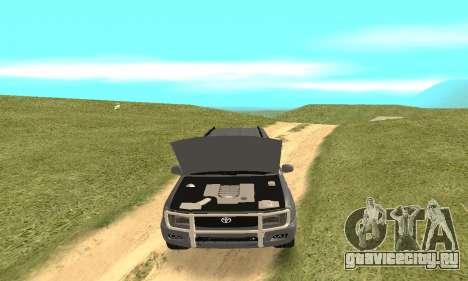 Toyota Land Cruiser 100 для GTA San Andreas вид сбоку